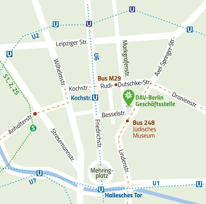 DAV Sektion Berlin: Ort der Geschäftsstelle
